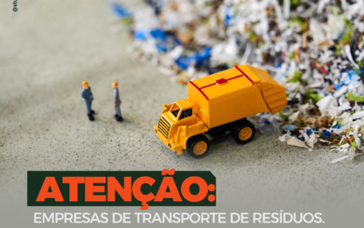 ATENÇÃO: EMPRESAS DE TRANSPORTE DE RESÍDUOS